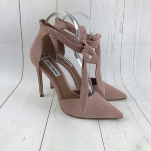 Steve Madden Pink Tracie Tie Ankle Heels Size 8.5
